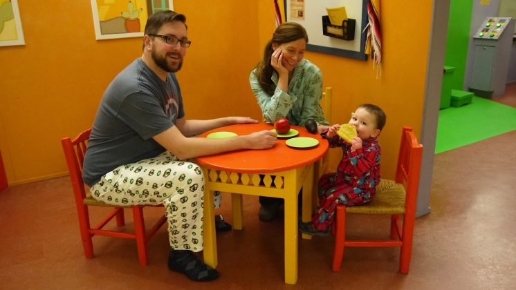 Pajama Day  Foote Family In Cafe